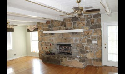The realtor's photo of the fireplace -- it made me swoon.